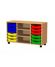Tray storage trolley 12 trays 3 shelves