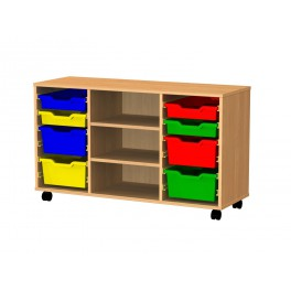 Tray storage trolley 8 trays 3 shelves