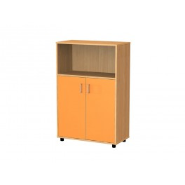 Cupboard 3 compartments low doors 122 cm