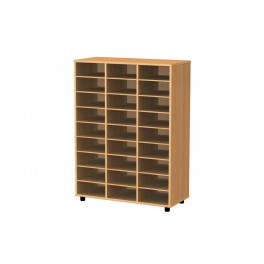 Cubby hole bookcase 27 cubby holes 122 cm