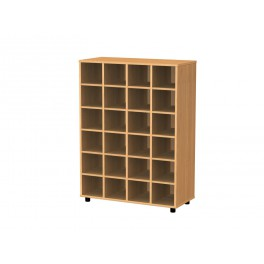 Cubby hole bookcase 24 cubby holes 122 cm