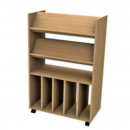 Superieur Double Sided Book Storage 4 Shelves 5 Cubby Holes