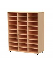 Cubby hole bookcase 27 cubby holes 122 cm DIN A3