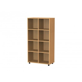 Cubby hole bookcase 8 cubby holes 154 cm
