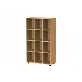Cubby hole bookcase 12 cubby holes 154 cm